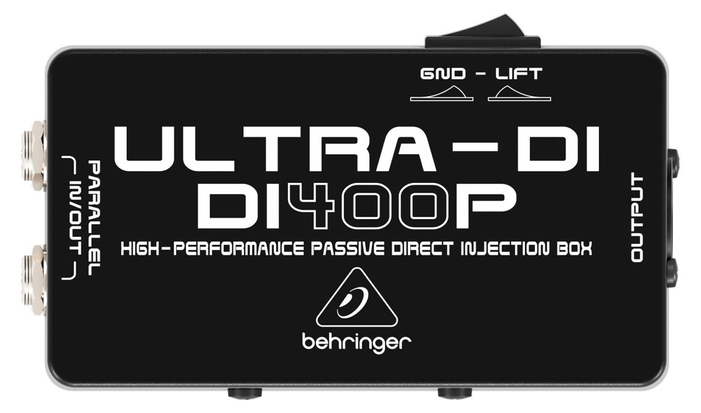 Direct Box passivo com aterramento Behringer DI400P