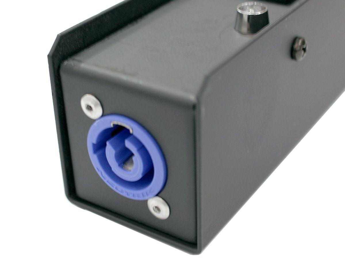 Distribuidor de energia, régua de chão com 5 tomadas antigo padrão NM | Entrada de conexão PowerCON | Parthson | P5TPC/NM