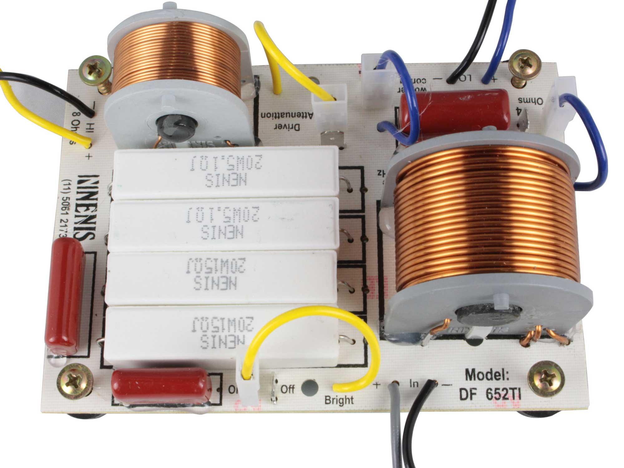 Divisor de Frequência 2 vias Passivo | 1 ou 2 Alto-falantes + 1 Driver de Titanium de até 650W RMS | DF652TI | Nenis