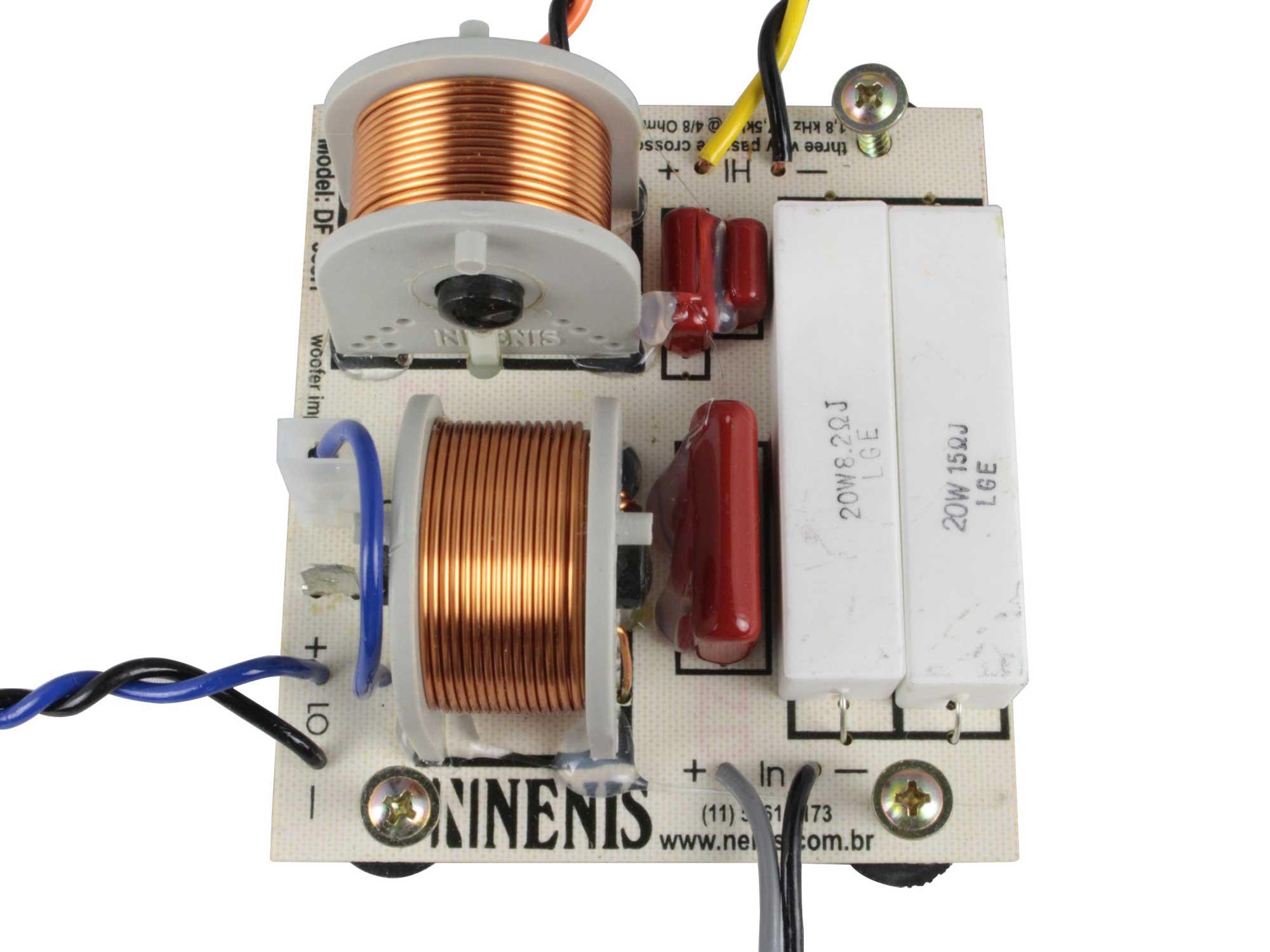 Divisor de Frequência 3 vias Passivo | 1 ou 2 Alto-falantes, 1 driver e 1 tweeter de até 350W RMS | DF353H | Nenis
