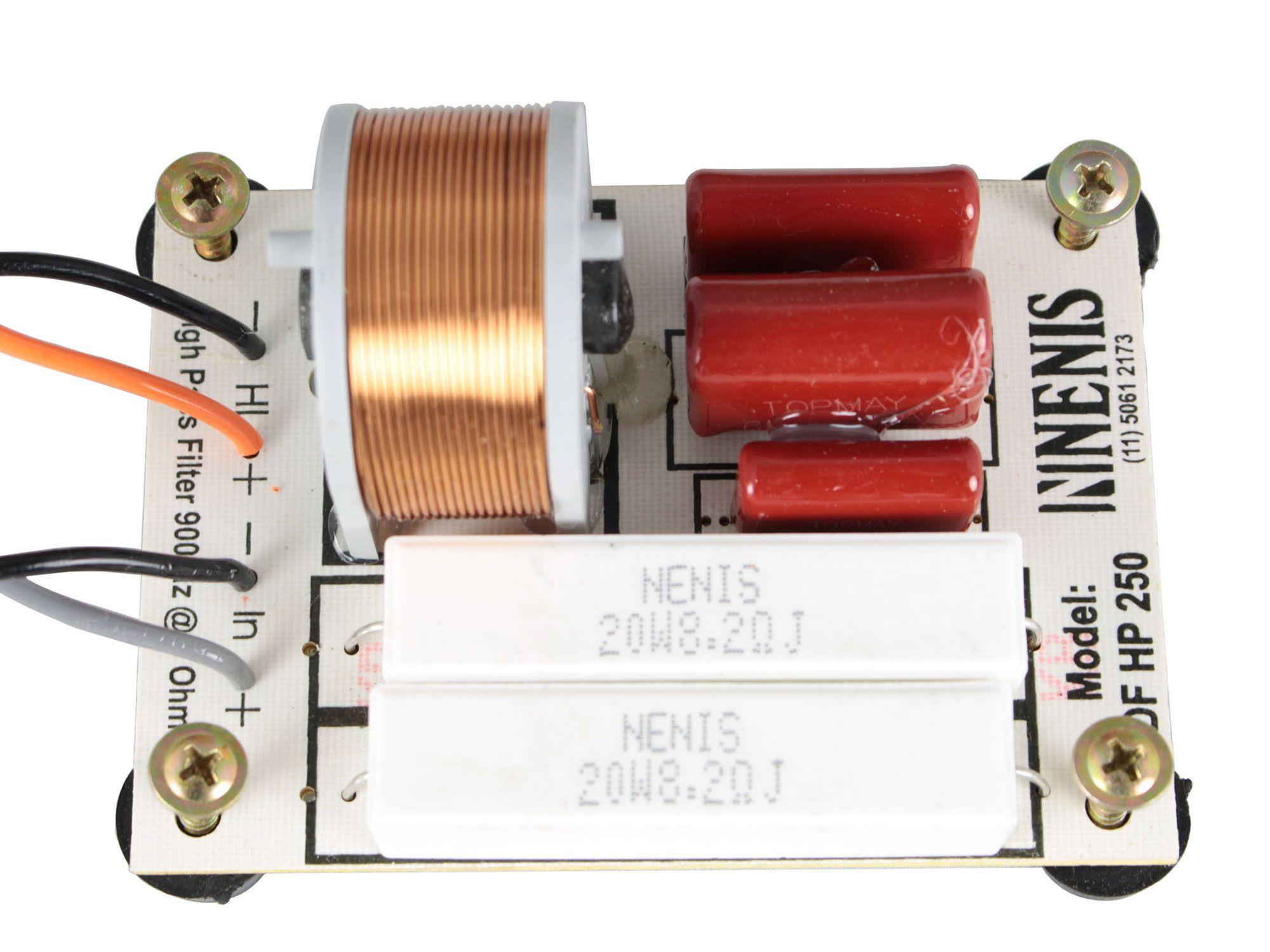 Divisor de Frequência Passivo 1 via | Driver de Titanium ou Fenólico de até 250W RMS | DFHP250 | Nenis
