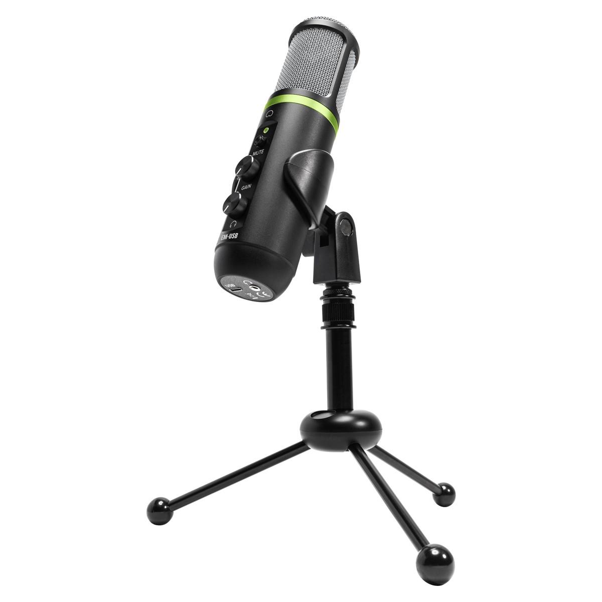 EM-USB MACKIE Microfone condensador USB p/ gravação e live