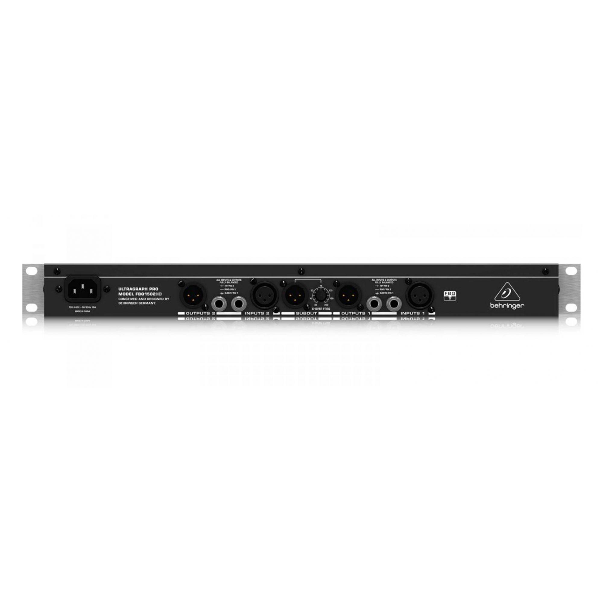 Equalizador estéreo 15 bandas Behringer FBQ1502HD