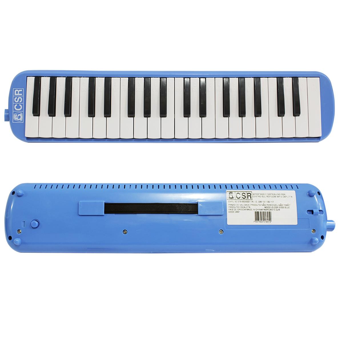 Escaleta Melodica com 37 Teclas Azul CSR - CSR37SB-BLUE