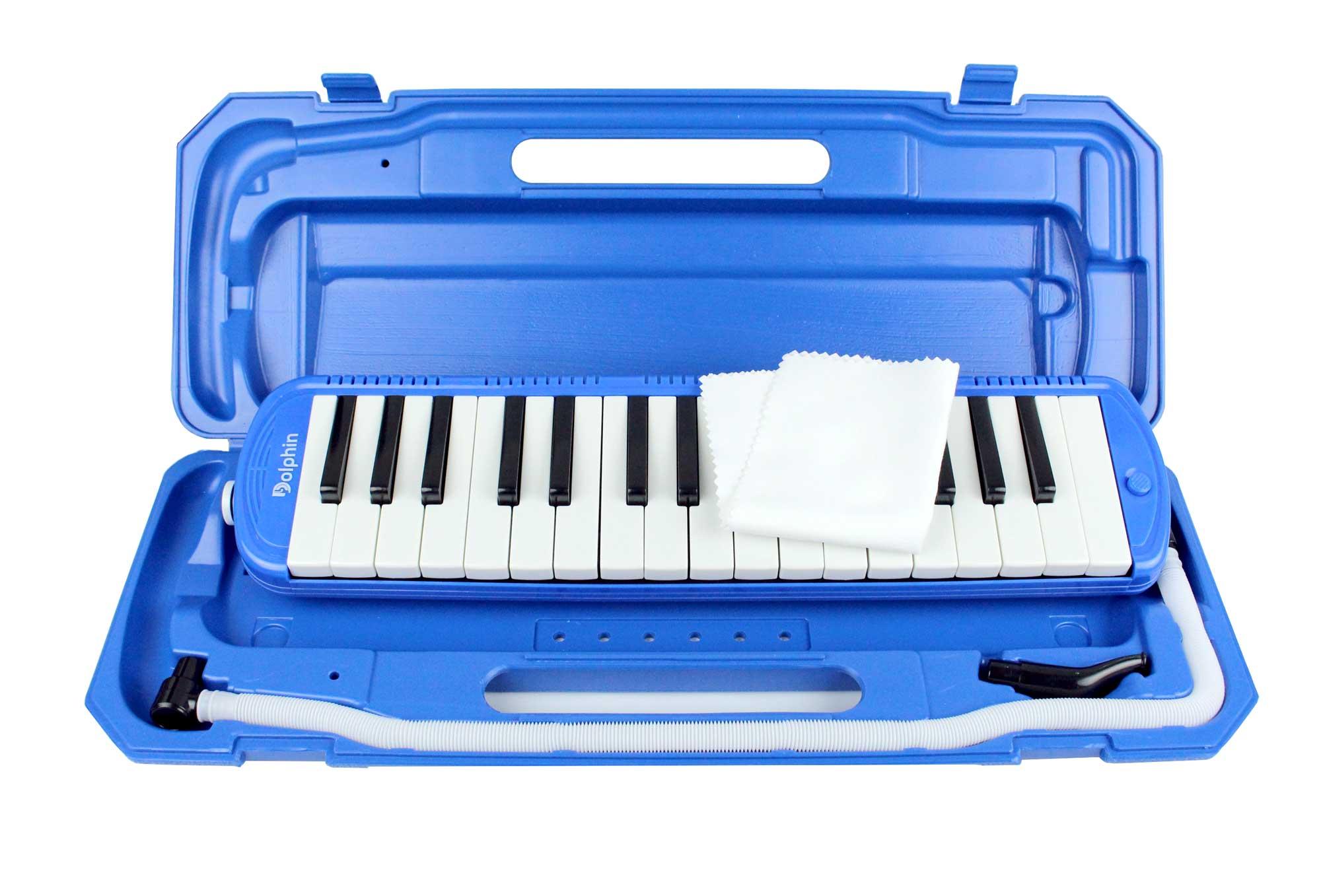 Escaleta melodica de 32 teclas na cor azul   Alcance de F a C   Dolphin   ESCALETA32AZ