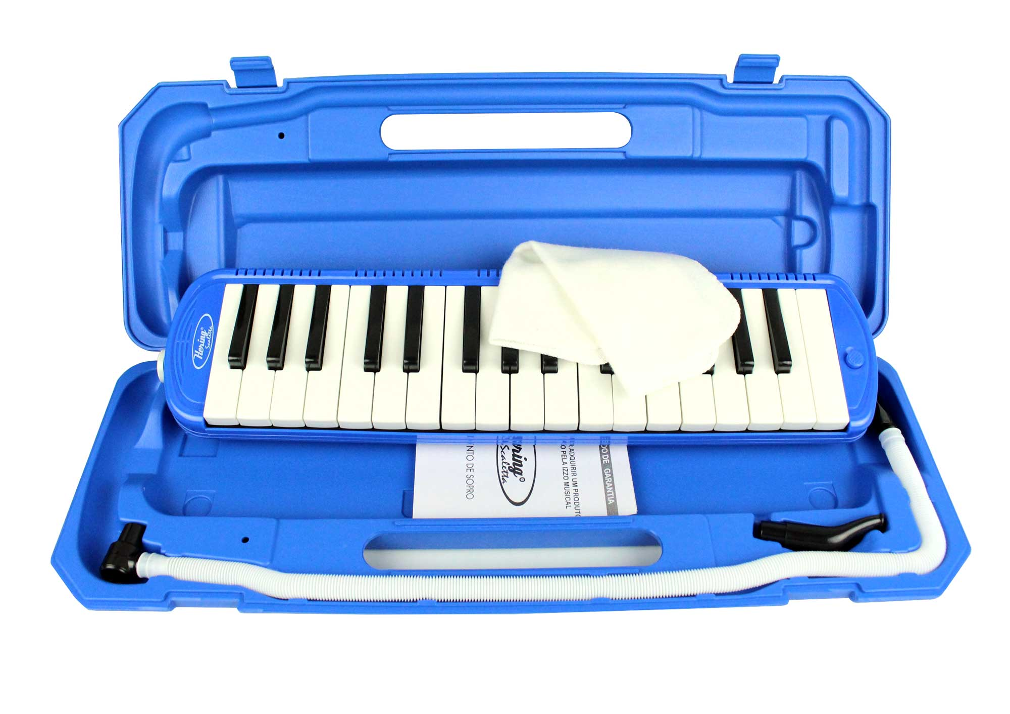 Escaleta melodica de 32 teclas na cor azul | Alcance de F a C | Hering | EH8862