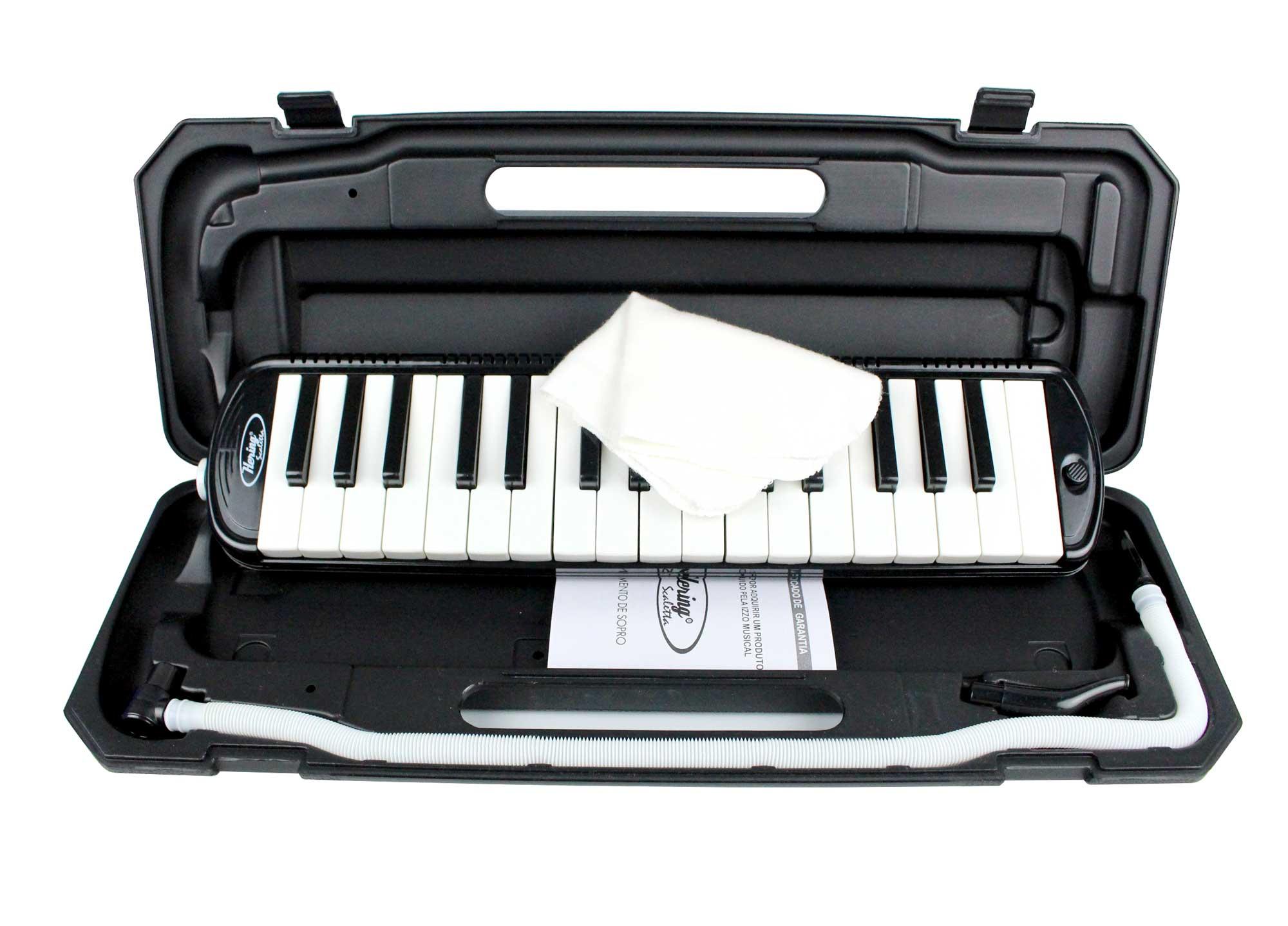Escaleta melodica de 32 teclas na cor preto | Alcance de F a C | Hering | EH8863