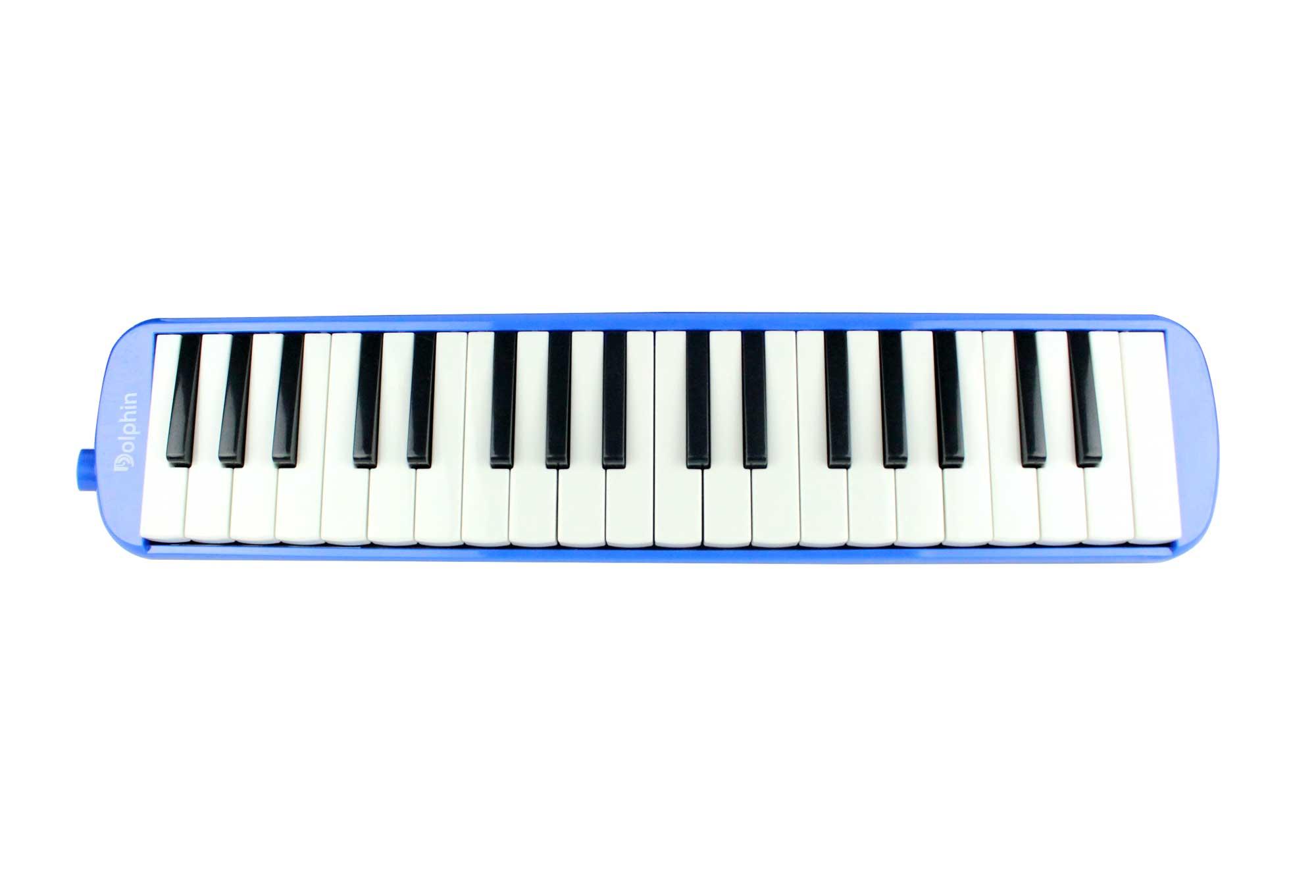 Escaleta melodica de 37 teclas na cor azul | Alcance de F a F | Dolphin | ESCALETA37AZ
