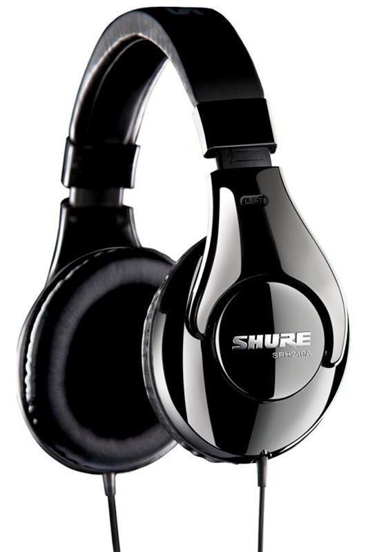 Fone de ouvido profissional fechado neodímio de 40 mm e cabo de 2 metros| SHURE | SRH240A
