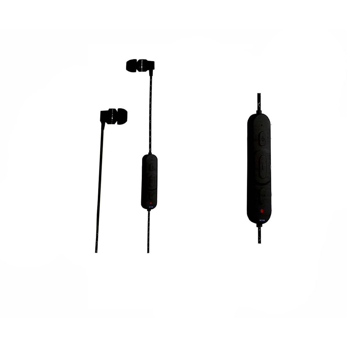 Fone In-Ear Preto Bluetooth com controle CSR CB