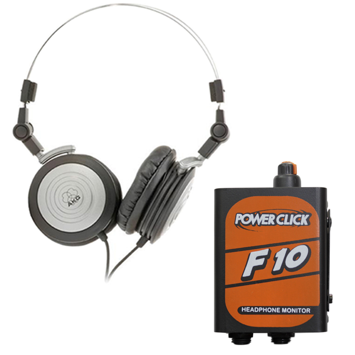 Fone Monitor AKG K414P + Amplificador Powerclick F10