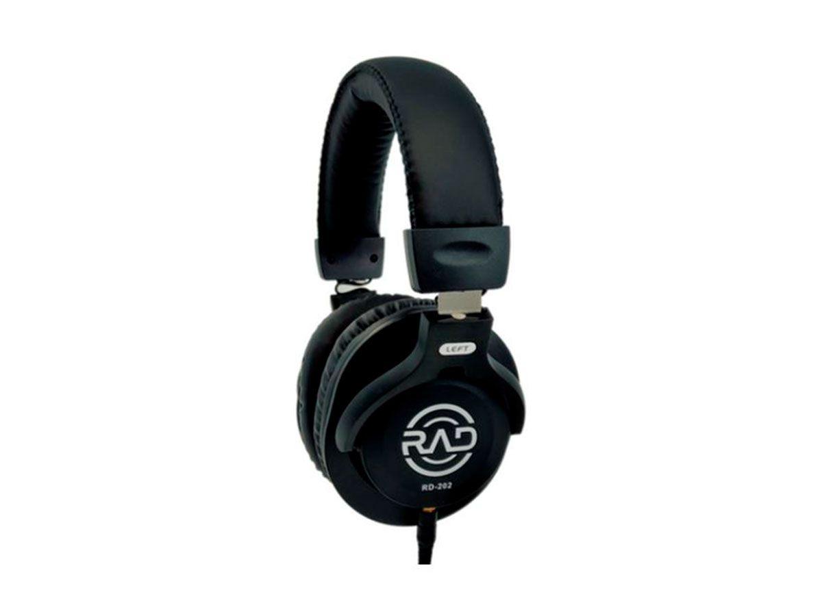 Fone Over-ear fechado Closed-back profissional RAD RD202