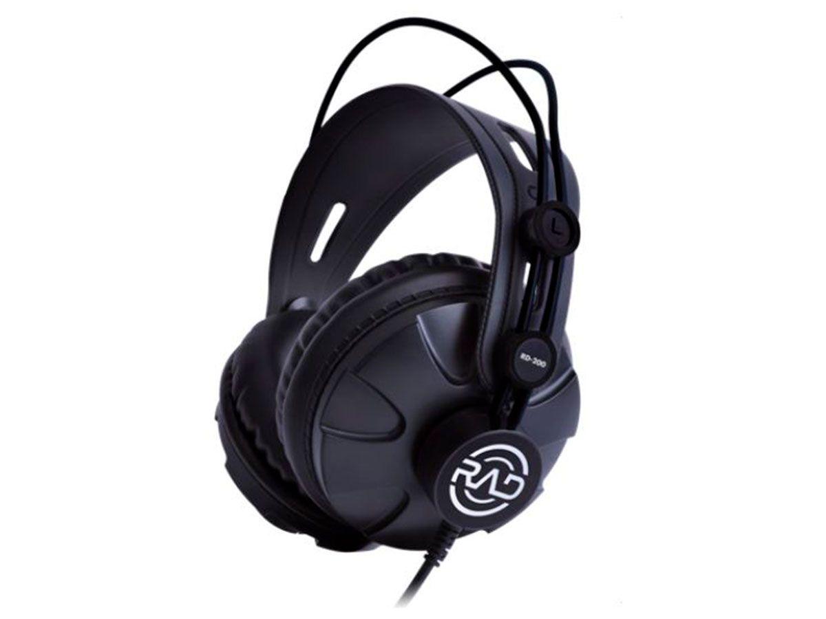 Headphone Over-ear profissional Driver de 53mm  RAD RD-200