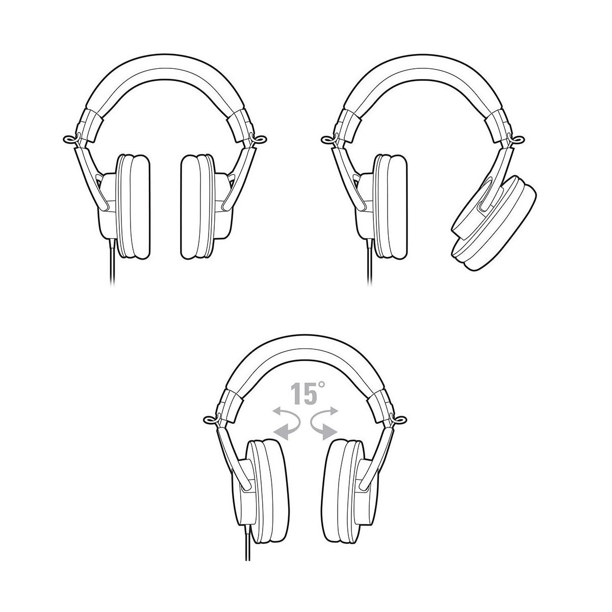 Headphone Over-ear profissional Audio-Technica ATH-M20X