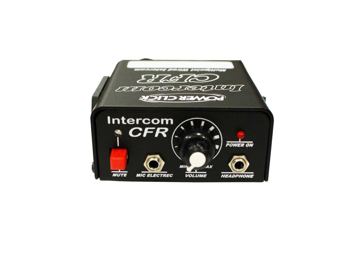 Intercom para sistema de comunicação a cabo, alcance de até 50m, fonte / bateria | Power Click | CFR