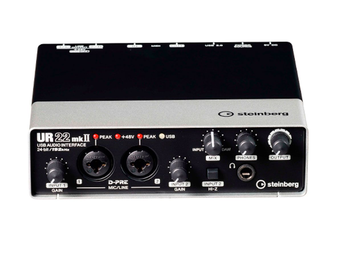 Interface de áudio USB 192kHz Steinberg UR22MKII