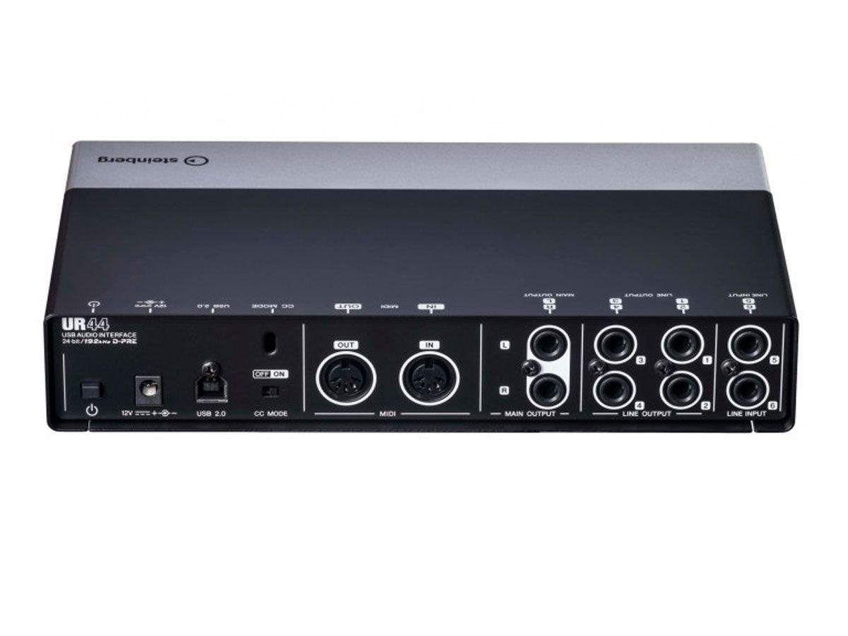 Interface de áudio e MIDI via USB com 4 pré-ampli e 4 Line out em 24bit/192kHz | Steinberg | UR44