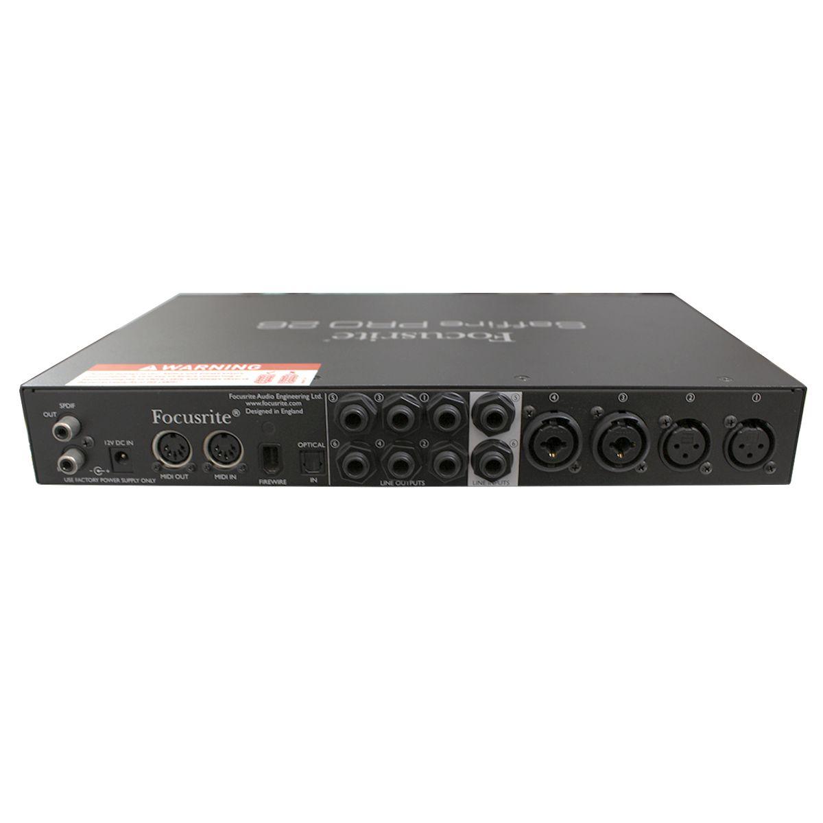 Interface Firewire 4 pré-ampli, 6 saídas e MIDI Focusrite Saffire PRO26