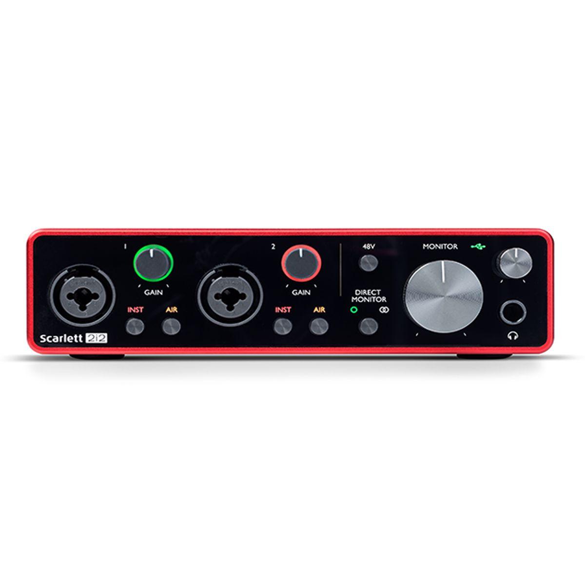 Interface USB - 2 Canais Focusrite Scarlett 2i2 3rd Gen