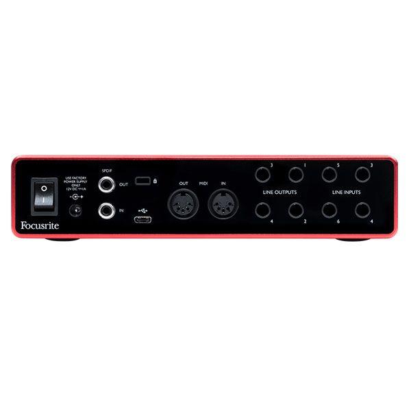 Interface USB 6 In MIDI 192 kHz Focusrite Scarlett 8i6 3g
