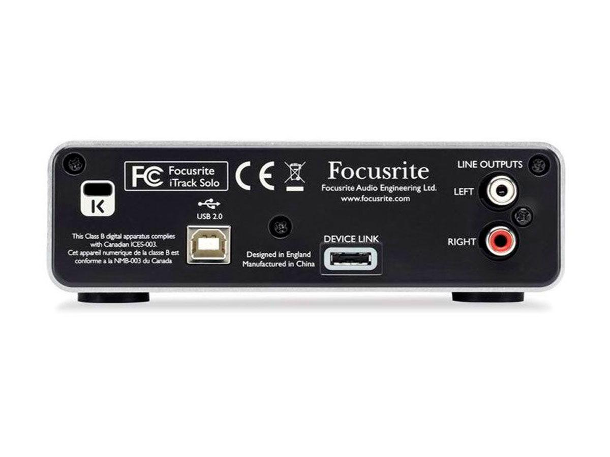 Interface - 2 canais - Ipad, Iphone e PC Focusrite iTrack Solo