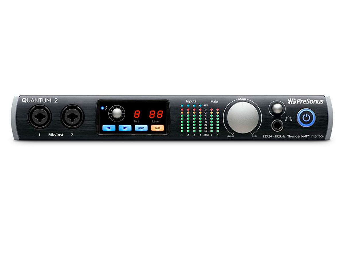 Interface de áudio via Thunderbolt com 4 pré-amplificadores expansível até 18 entradas e saídas digitais | Presonus | Quantum 2