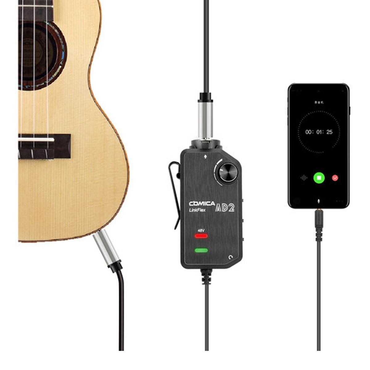 Interface Smartphone 1 Mic ou 1 Inst 48V Comica LINKFLEXAD2