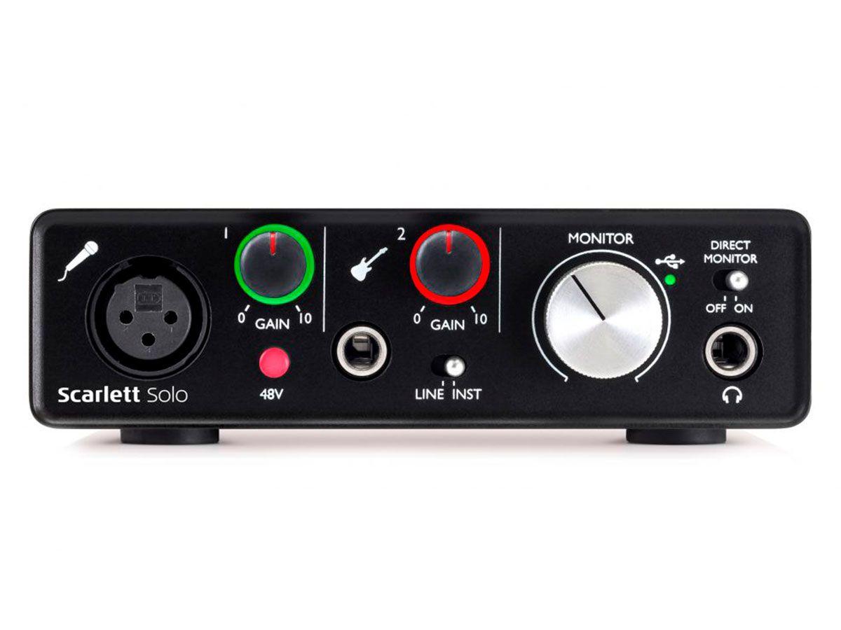Interface USB 2.0 com 2 canais de entrada / 2 saídas   Focusrite   Scarlett Solo 2nd Geração