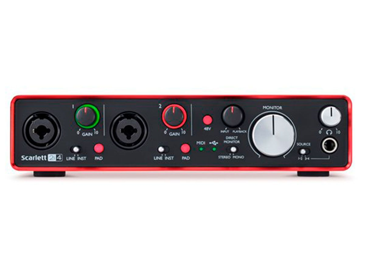 Interface USB 2 entradas / 4 saídas Focusrite Scarlett 2i4 2G