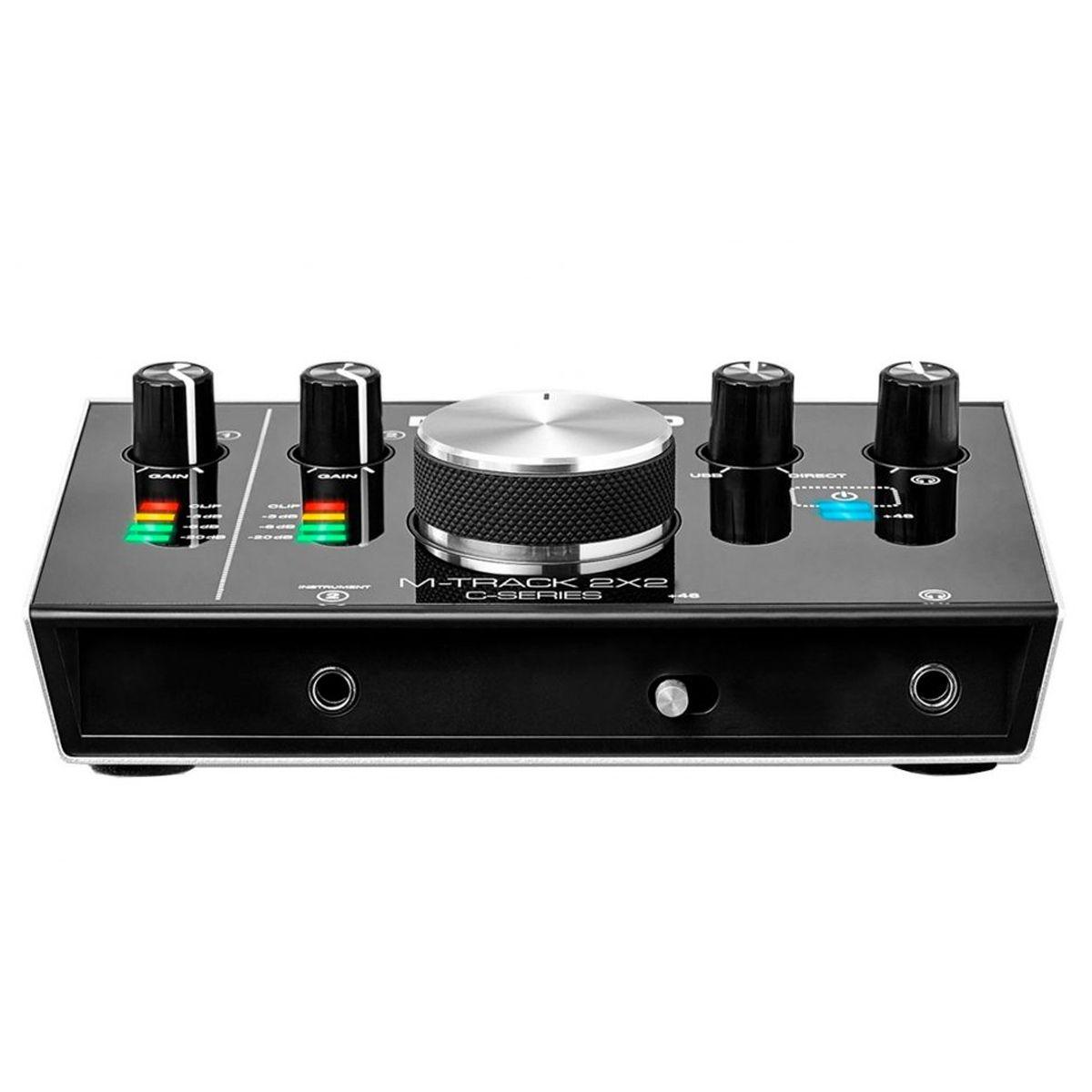 Interface USB 2 canais | 24 bits / 192 KHz | USB 2.0, USB-C | M-Audio | M-TRACK2X2