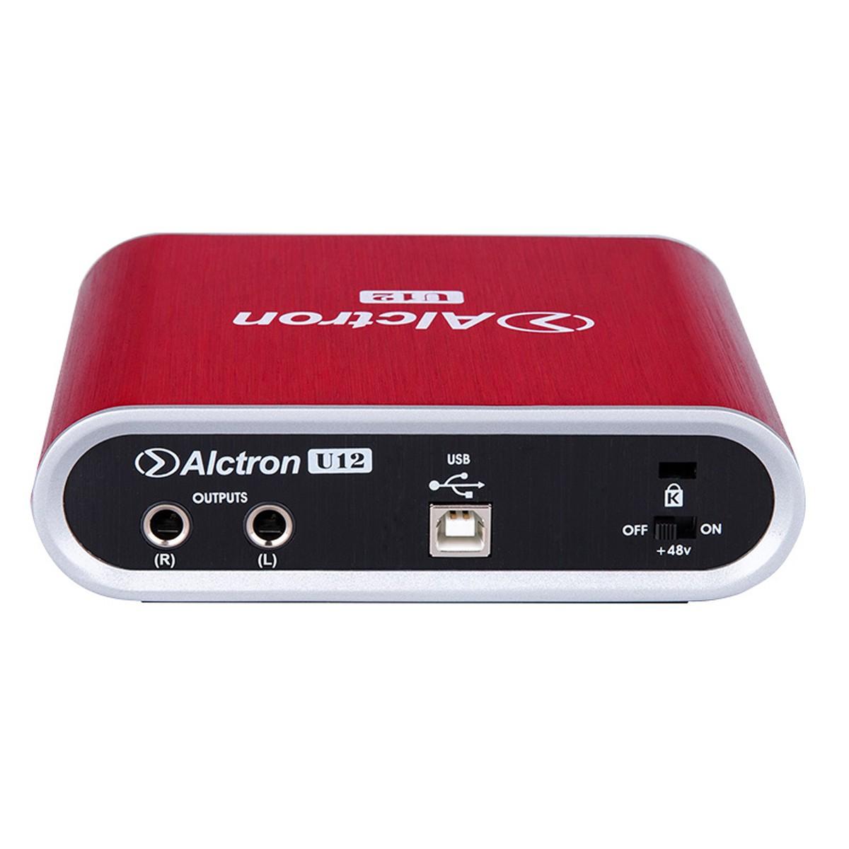 Interface USB 2 canais 24bit 48 Khz PC MAC Alctron U12 V