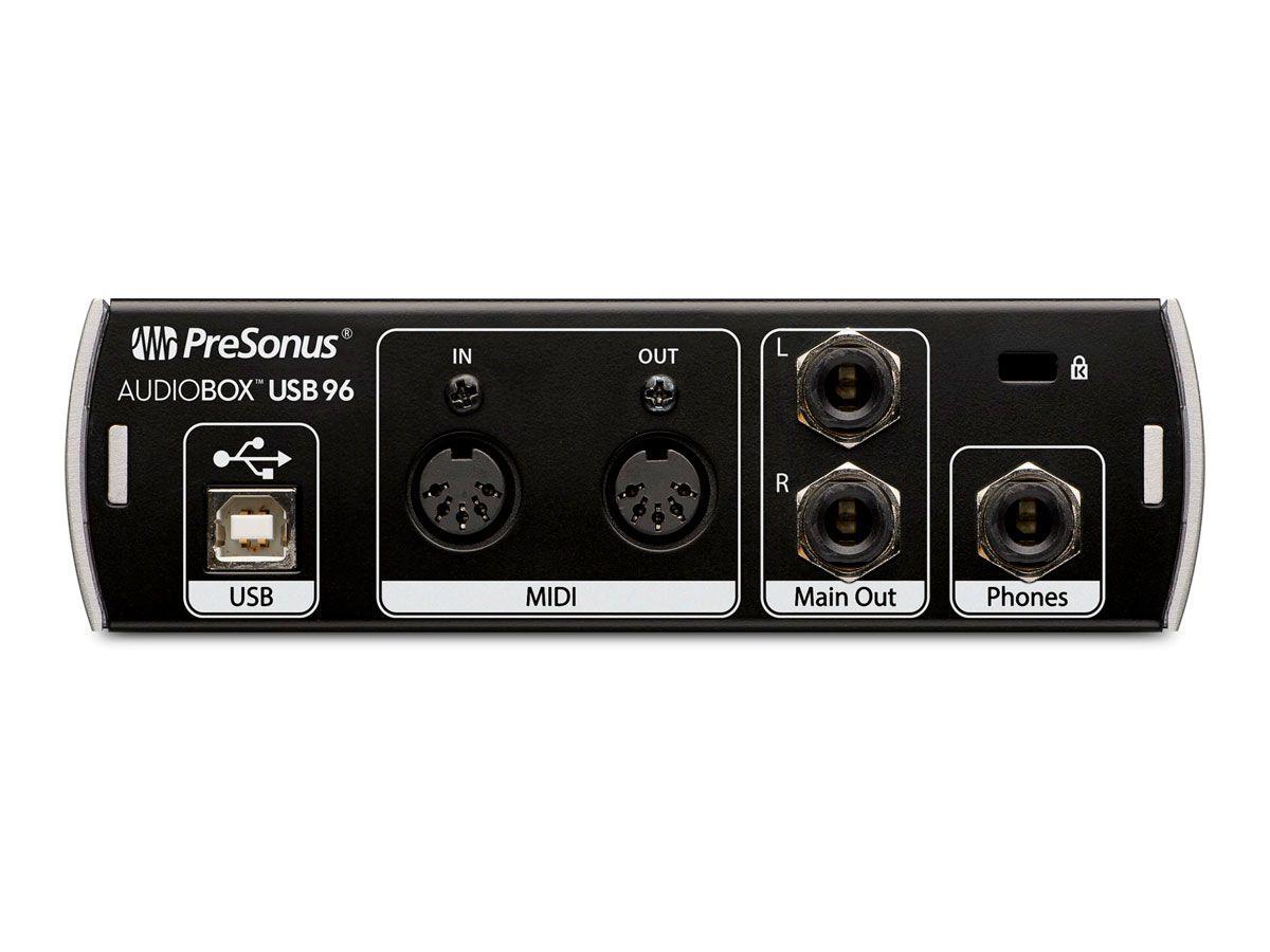 Interface USB, 2 canais de entrada e 2 saídas balanceadas P10 | 24 bit/96 KHz | Presonus| AudioBox USB 96
