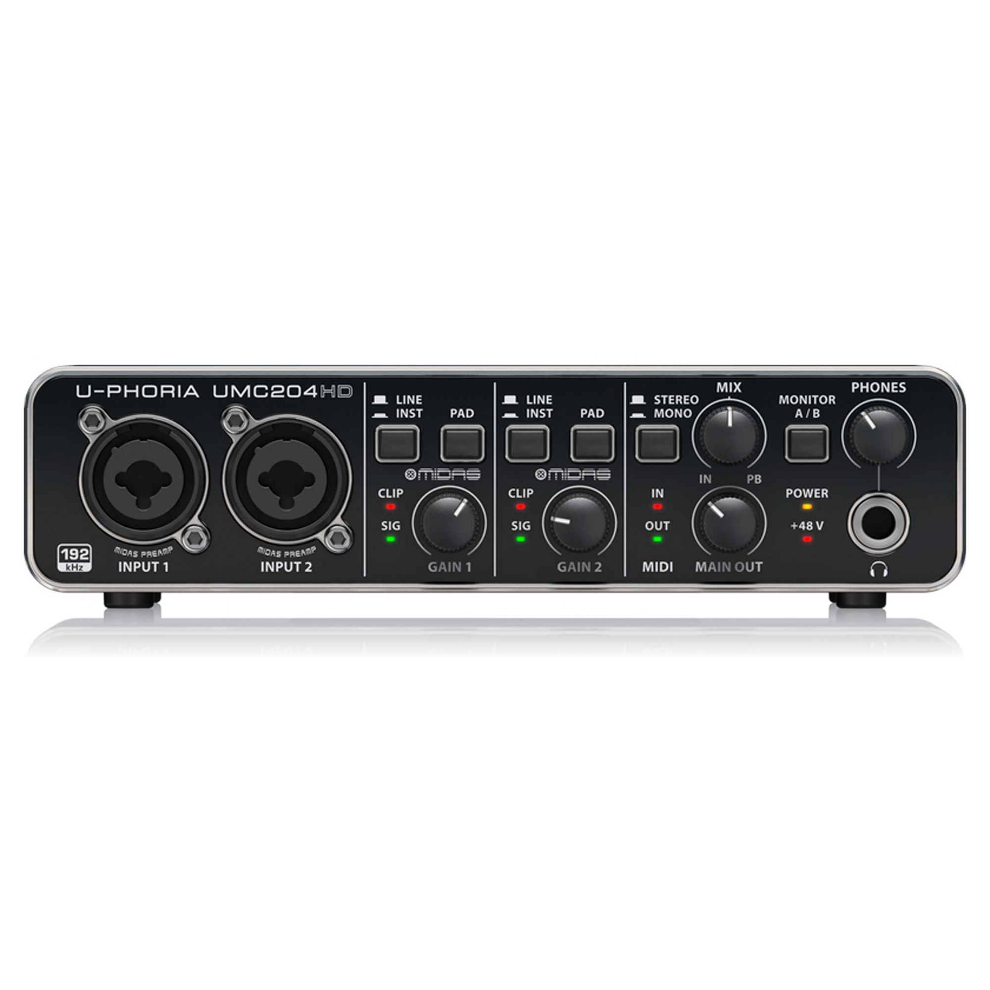 Interface 2 entradas / 4 saídas Behringer UMC204HD