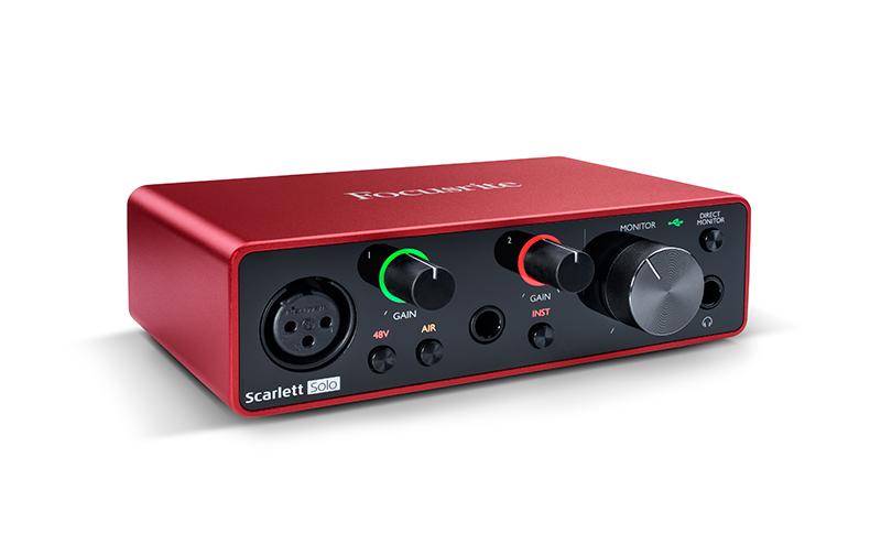 Interface de audio 2 canais Focusrite Scarlett Solo 3G
