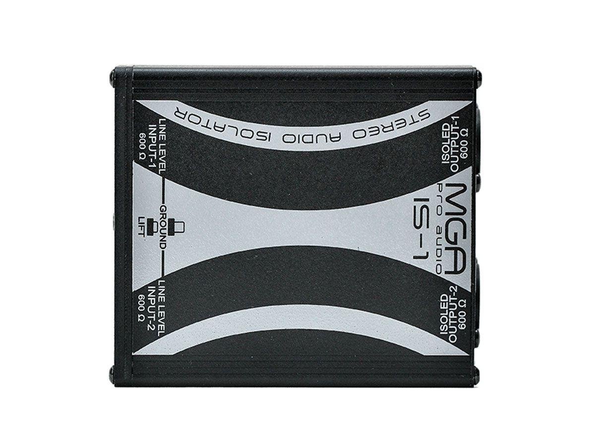 Isolador de linha com 2 canais para aplicação de áudio em geral   MGA Pro Audio   IS-1
