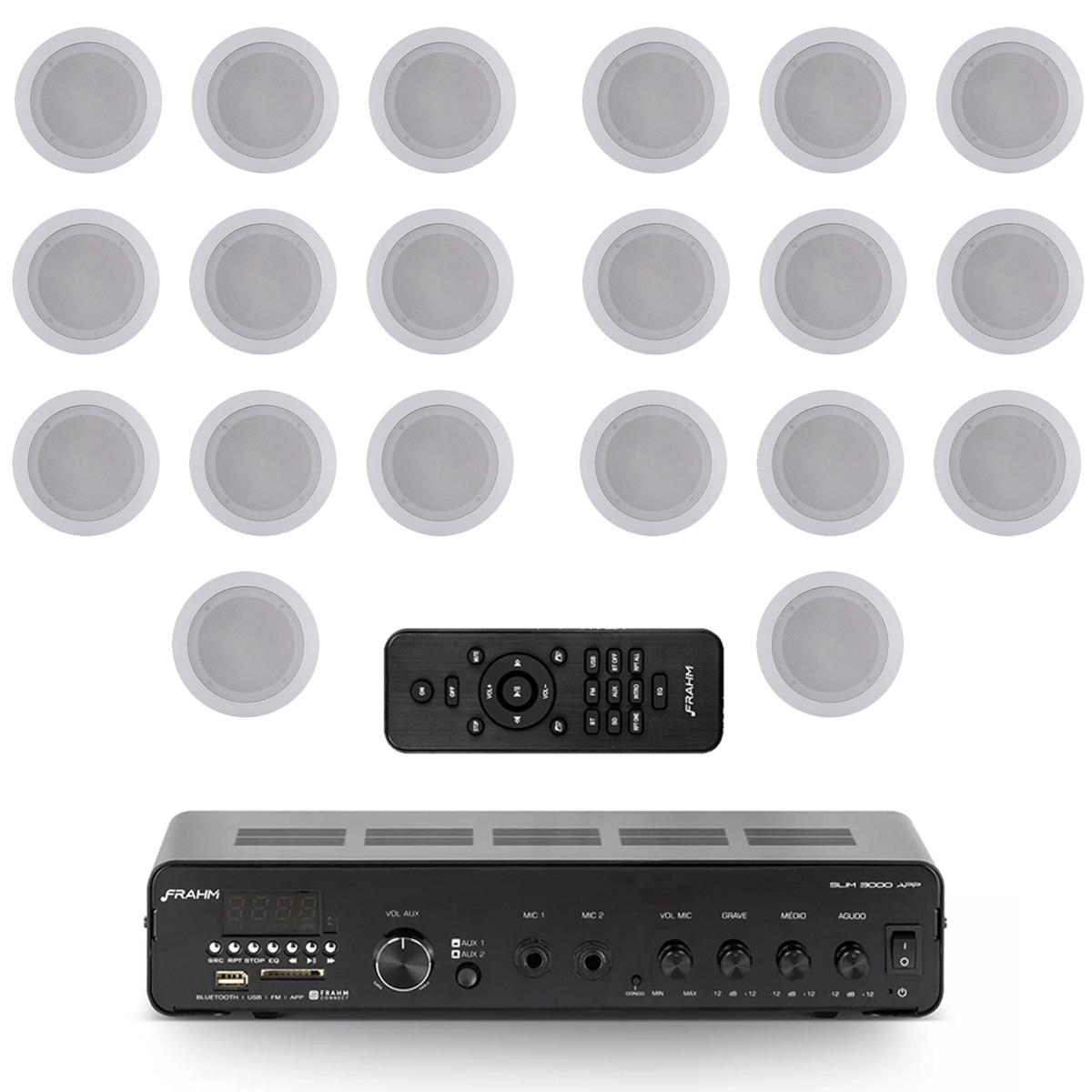 Kit 20 arandelas + amplificador USB Frahm Slim3000APP