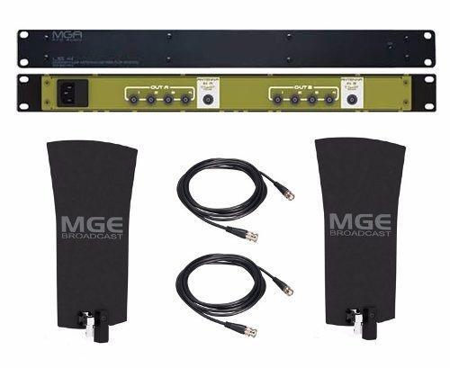 Kit 2 Antenas + Distribuidor + 2 Cabos Splyter Mga Us4 A2