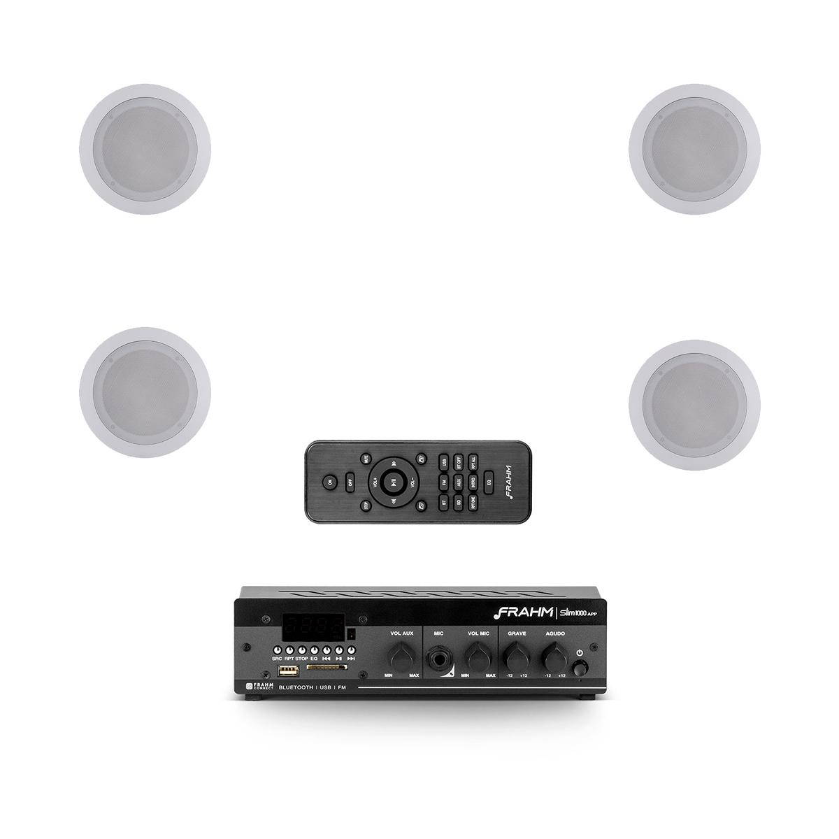 Kit 4 arandelas + amplificador USB Frahm Slim1000APP