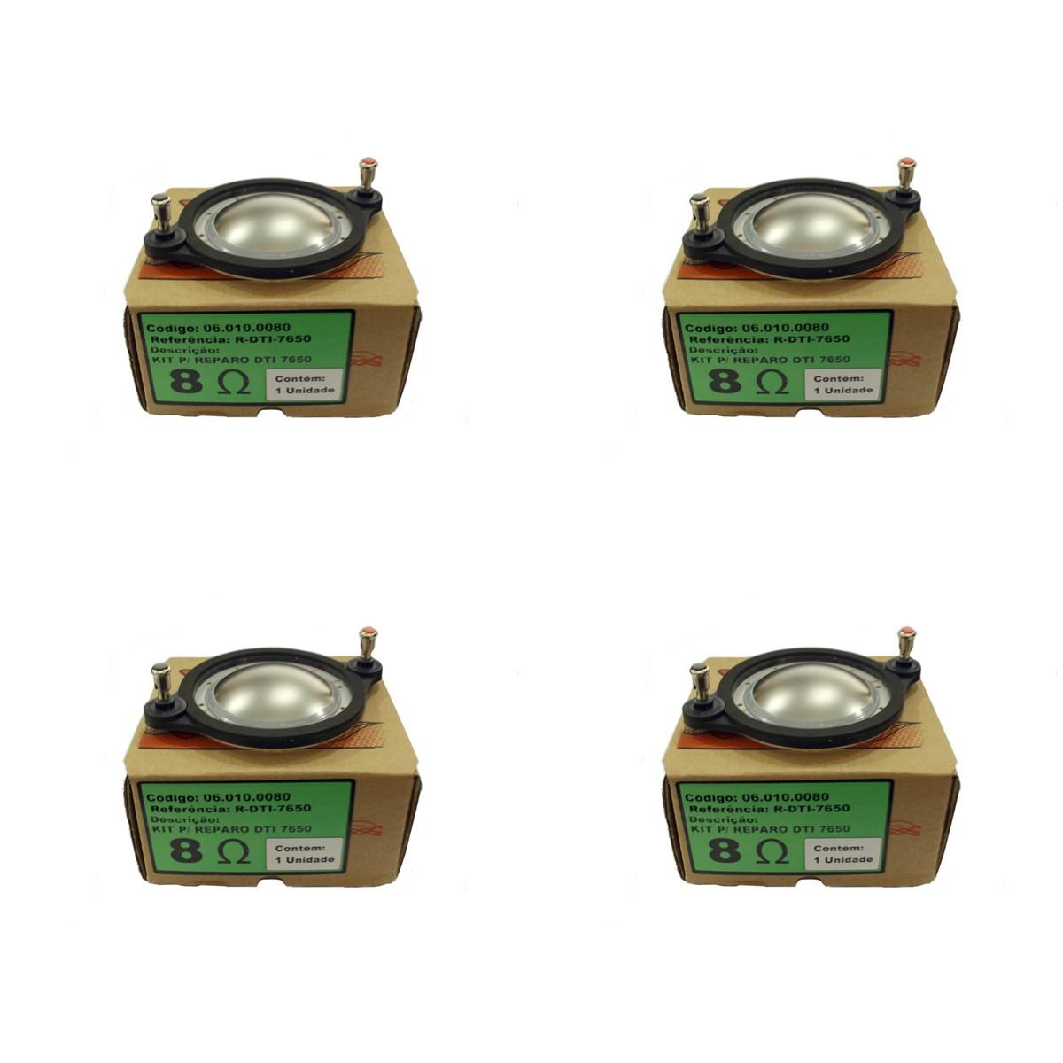 Kit 4 peças Reparo para Driver Oversound DTI7650 RDTI7650