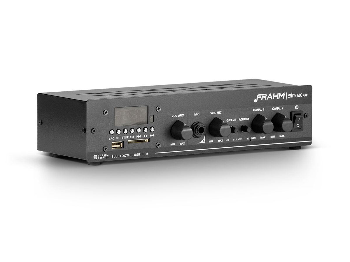 Kit 6 arandelas + amplificador USB Frahm Slim1600APP