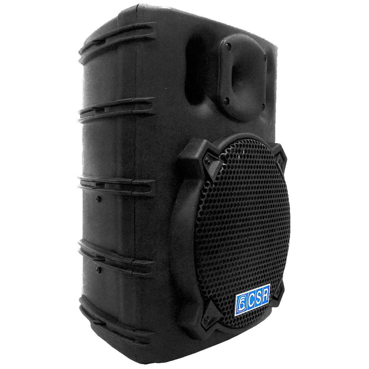 Kit Caixa Ativa CSR2500AUSB + 1 Par Microfones CSR505