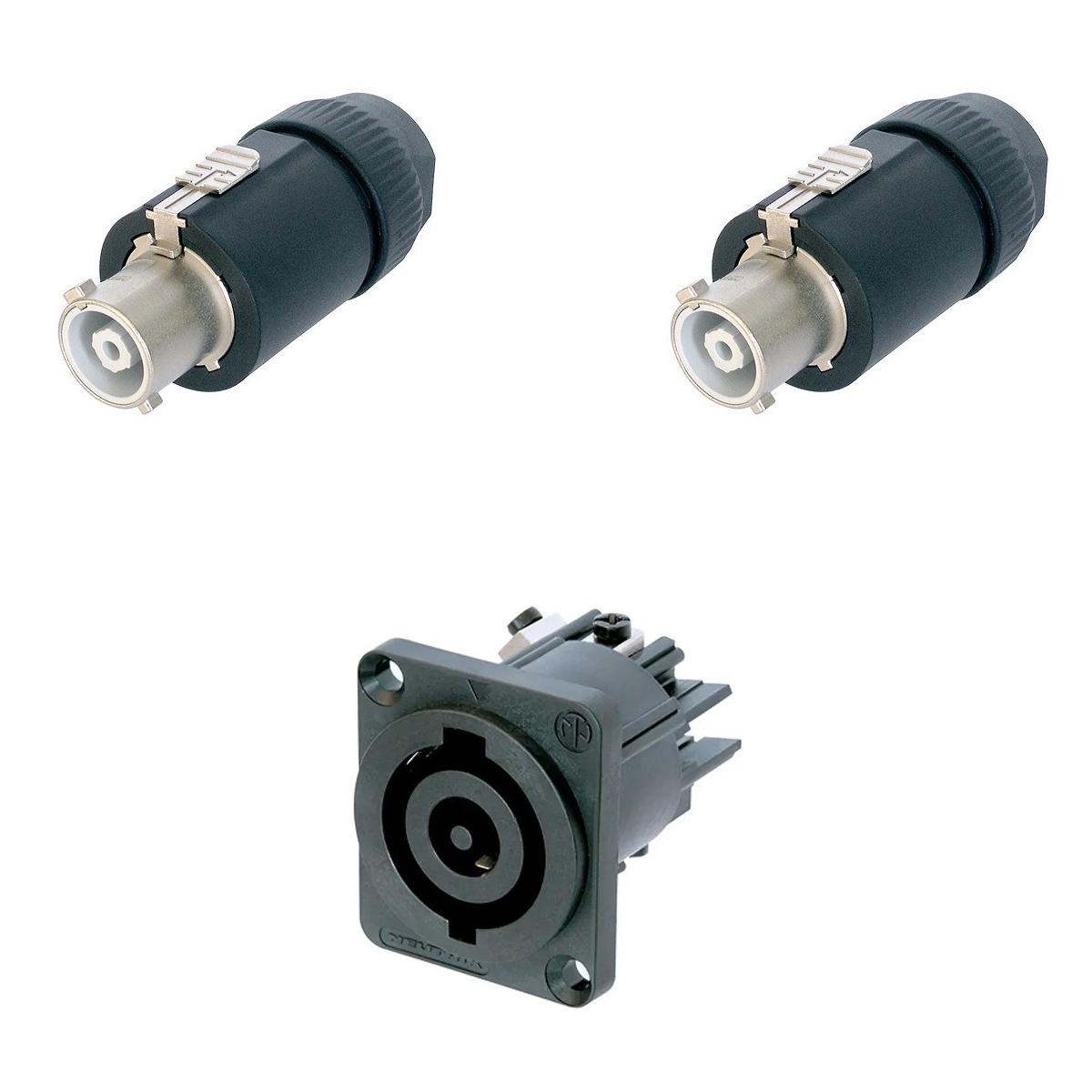 Kit PowerCON com 2 NAC3FC-HC + 1 NAC3MP-HC NEUTRIK