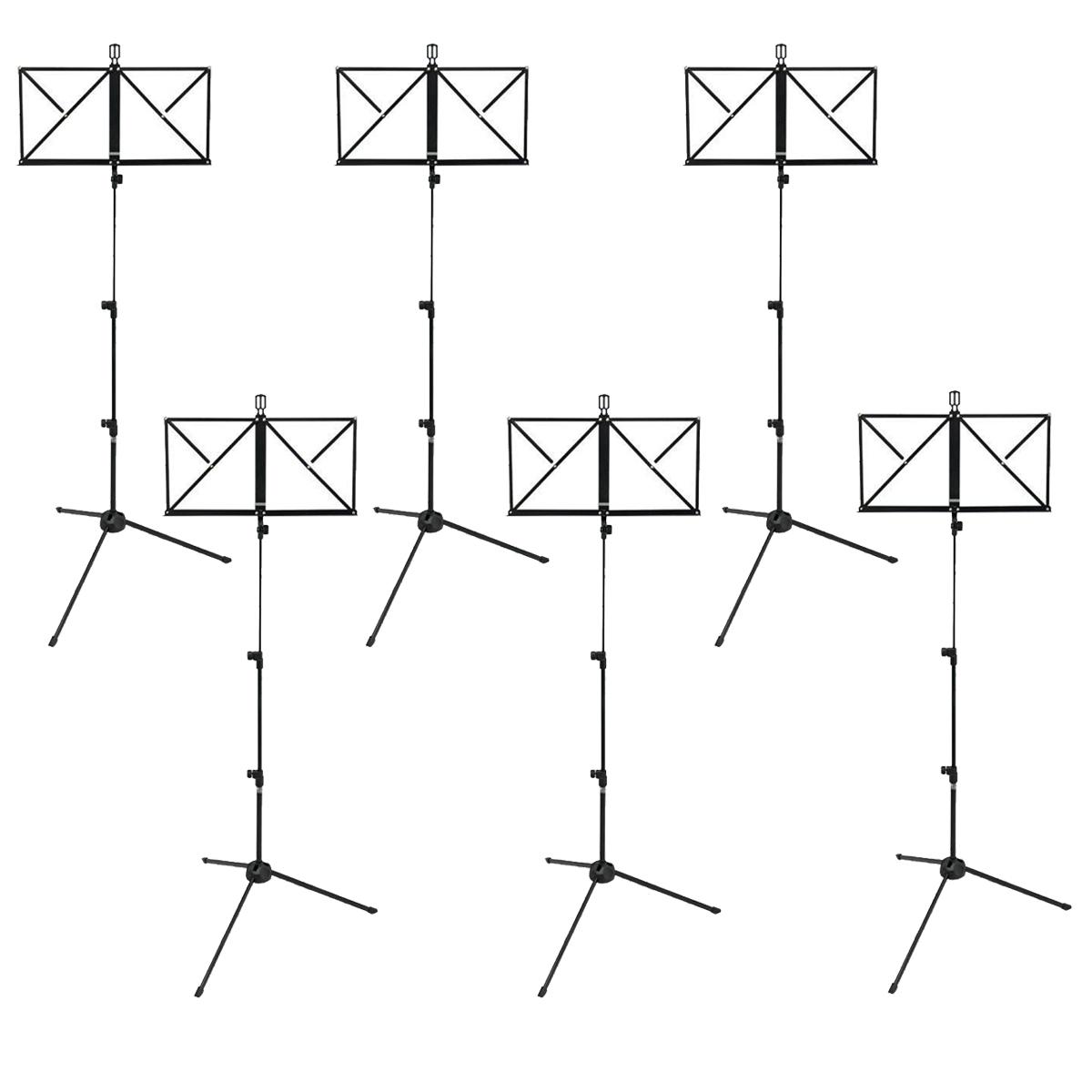 Kit com 6 Estantes de Partitura Dobrável RMV PES0090