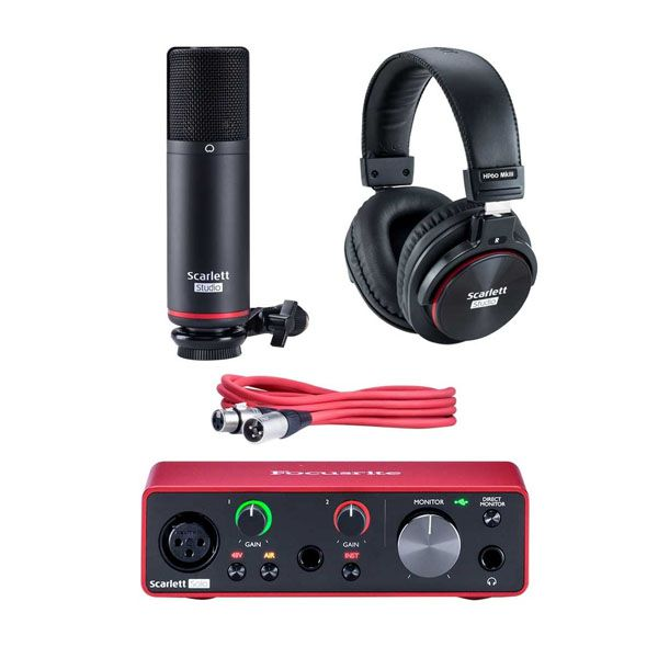 Kit Home Studio Focusrite Scarlett 2i2 Studio 3G