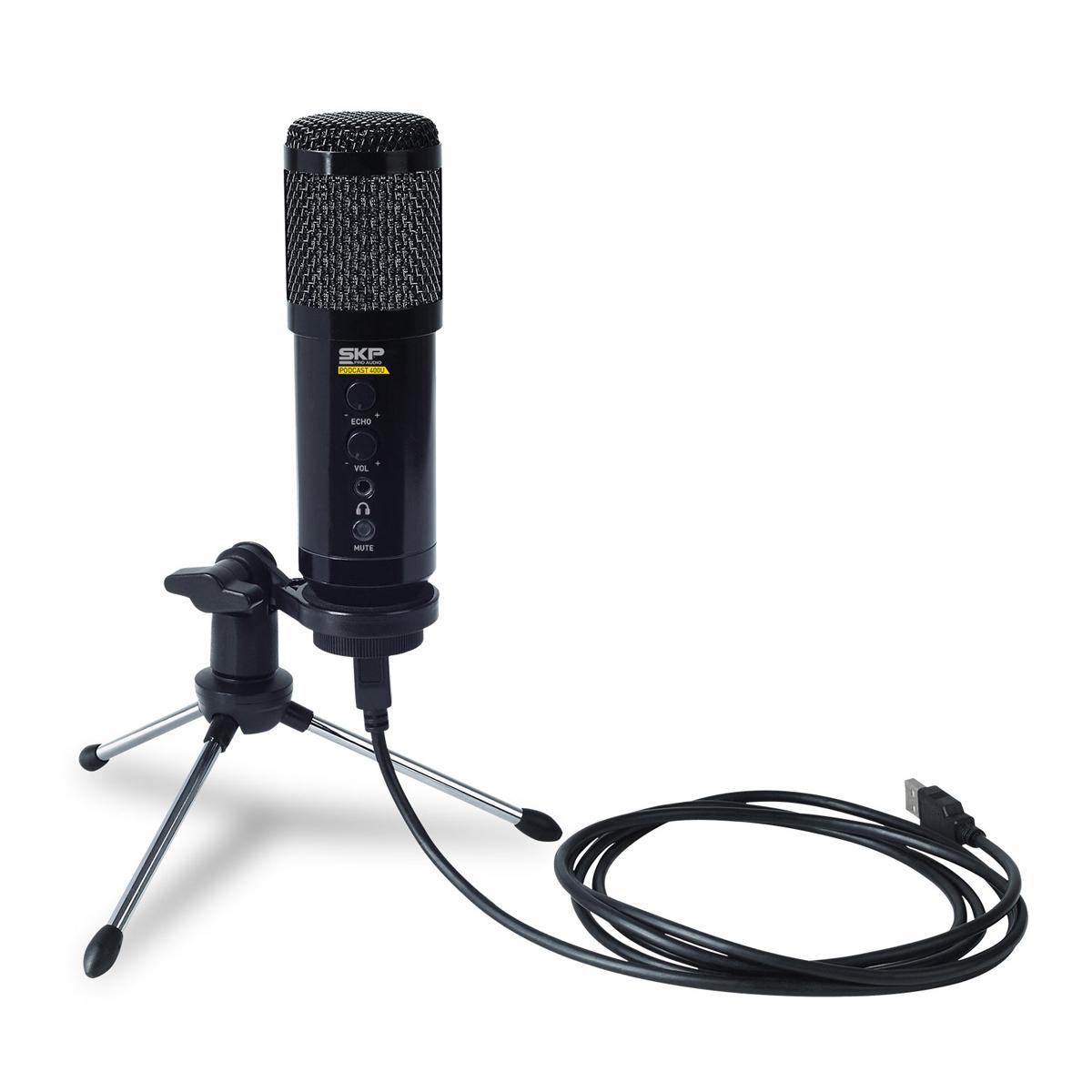 Kit Home Studio Microfone, Fone e Suporte SKP Superlux