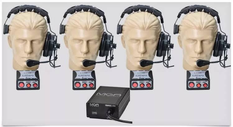 Kit Intercom 4 Fone + 4 Body Pack + 1 Fonte - Mga Si40