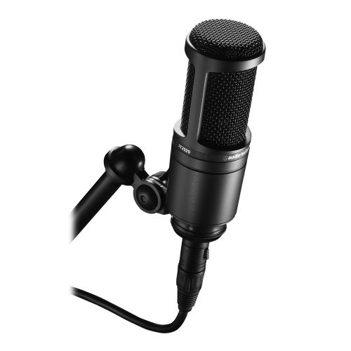 Kit Microfone AT2020 + Fone ATH-M20X Audio-Technica
