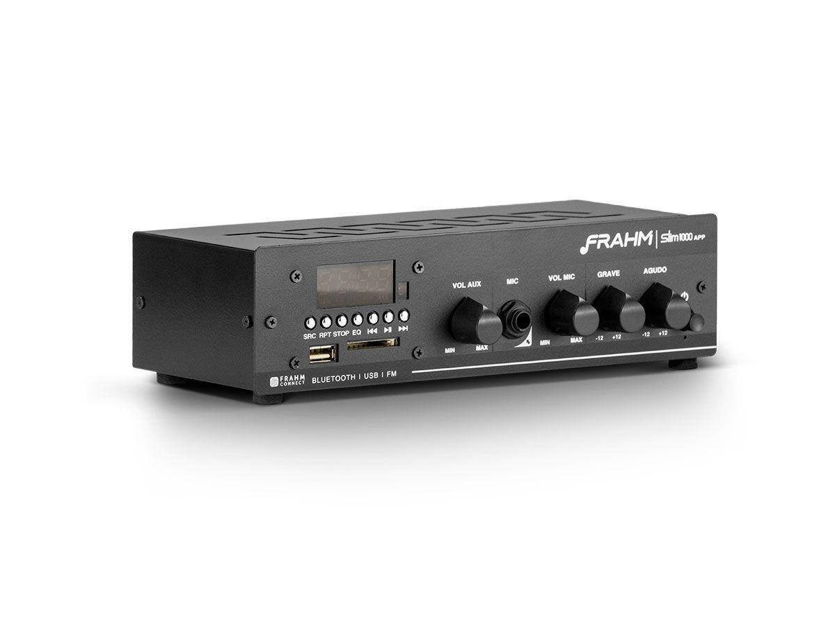 Kit para som ambiente com 1 amplificador + 12 arandelas | Natts, Frahm | SLIM 1000 APP G2 - AR6C