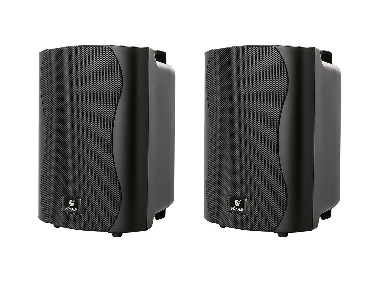 Kit para som ambiente com 1 amplificador + 4 caixas de 4 polegadas   Frahm   SLIM 1000 USB/FM, PS4PLUS