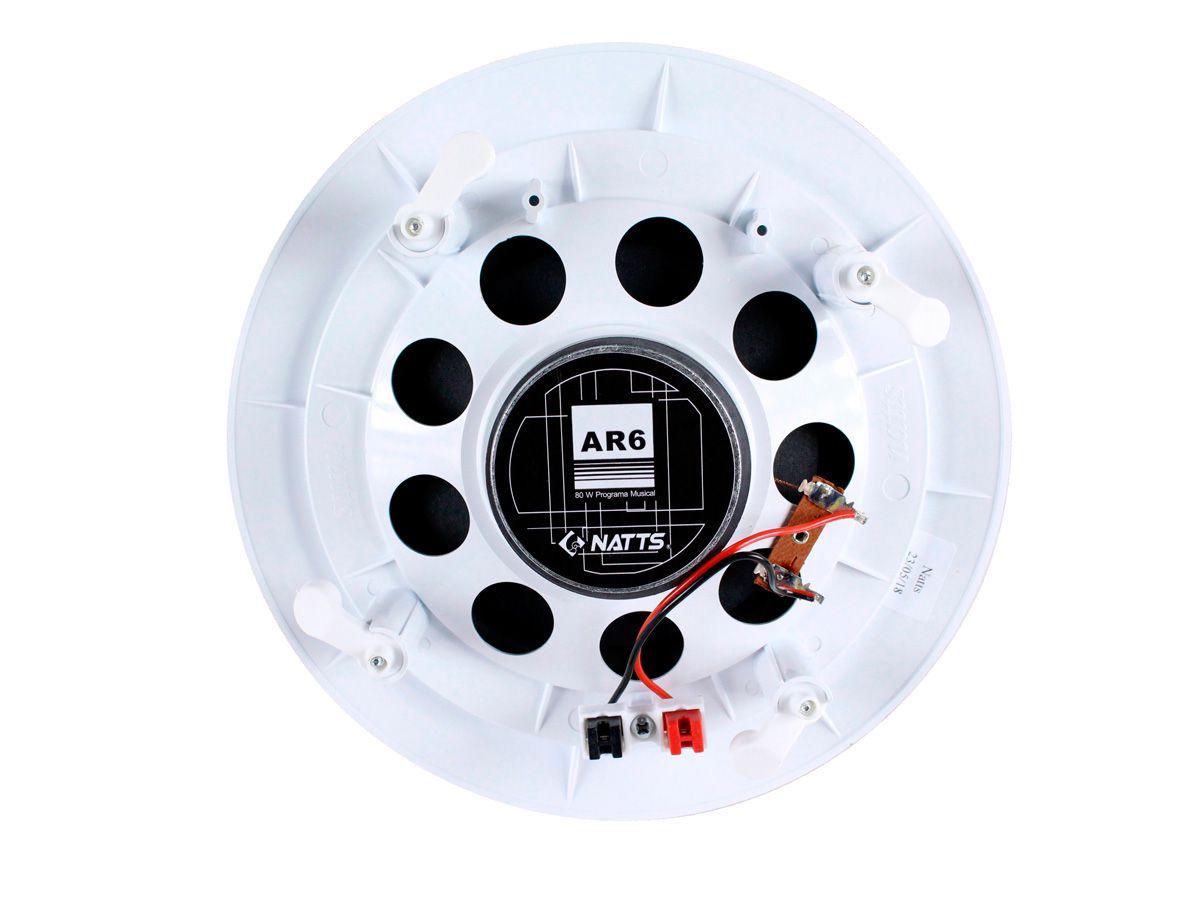 Kit para som ambiente com 1 amplificador + 6 arandelas | Natts, Frahm | SLIM 1000 USB/FM, AR6C